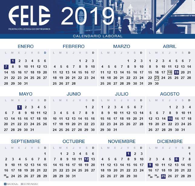 Calendario Laboral Ceuta 2019.Consulta El Calendario Laboral De 2019 Fele News Noticias Fele